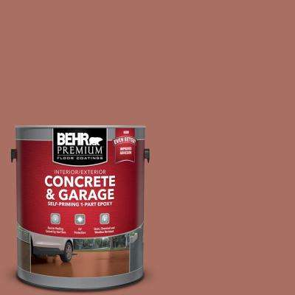 1 gal. #PFC-08 Terra Brick Self-Priming 1-Part Epoxy Satin Interior/Exterior Concrete and Garage Floor Paint
