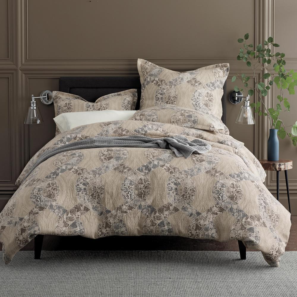 Dillon Matelasse Multicolored Floral Cotton Full Duvet Cover