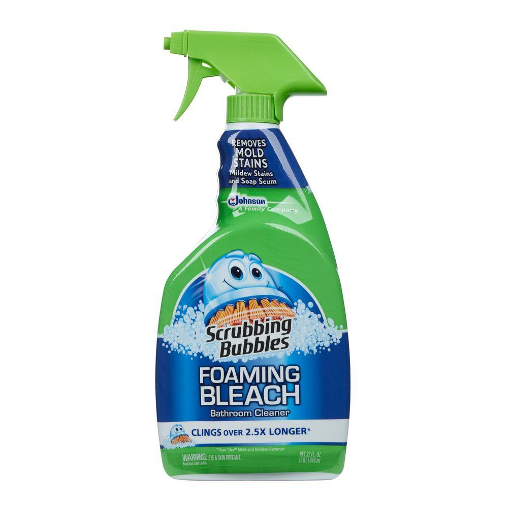 Scrubbing Bubbles 32 Oz Foaming Bathroom Cleaner With Bleach 652511 The Home Depot