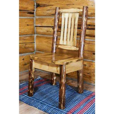 Glacier Country Brown Wood Dining Chair