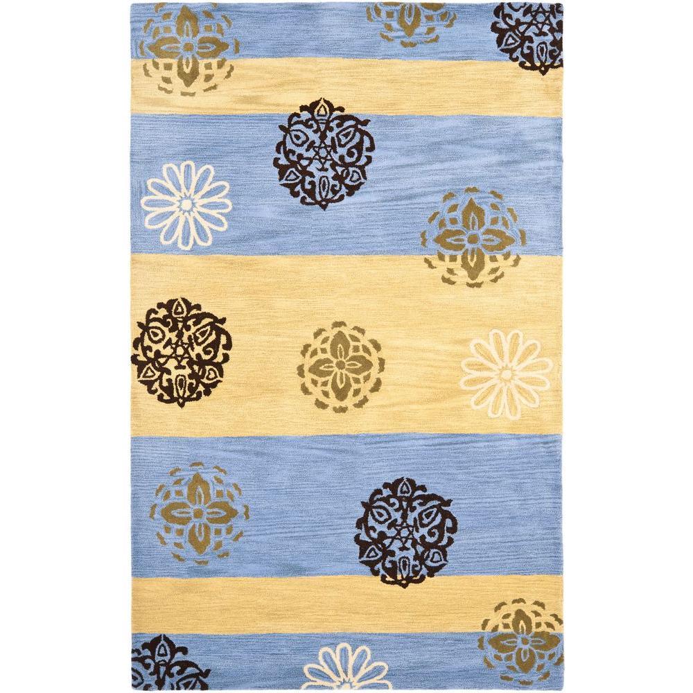 Safavieh Soho Gold/Blue 3 ft. 6 in. x 5 ft. 6 in. Area Rug