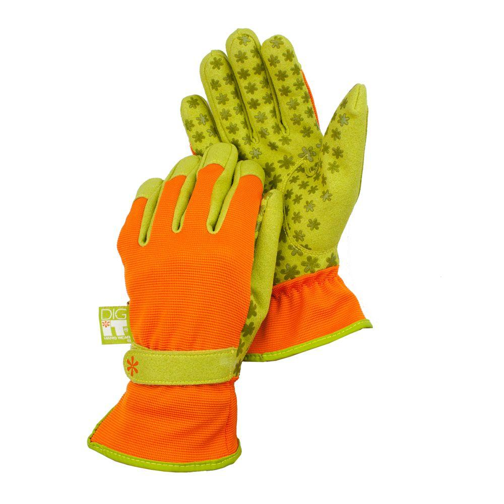 Medium Synthetic Leather Utility Garden Gloves