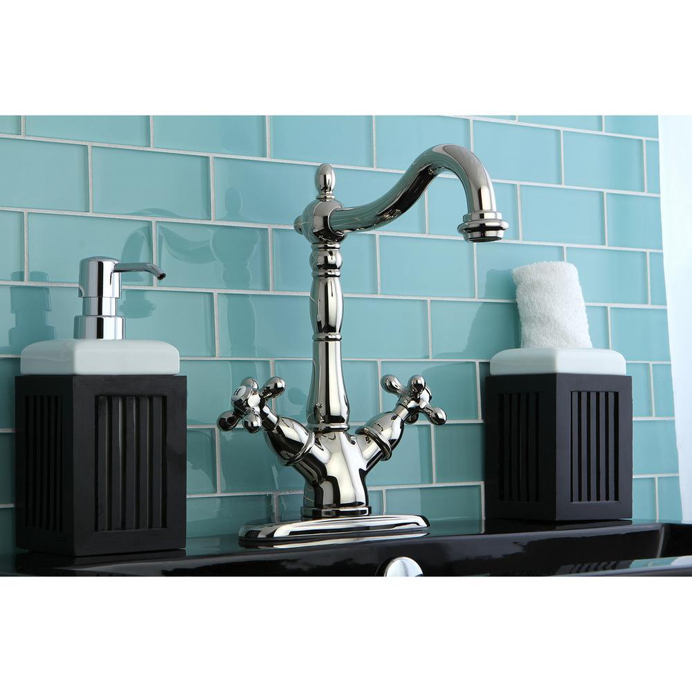 Heritage Single Hole 2-Handle Bathroom Faucet in Polished Nickel