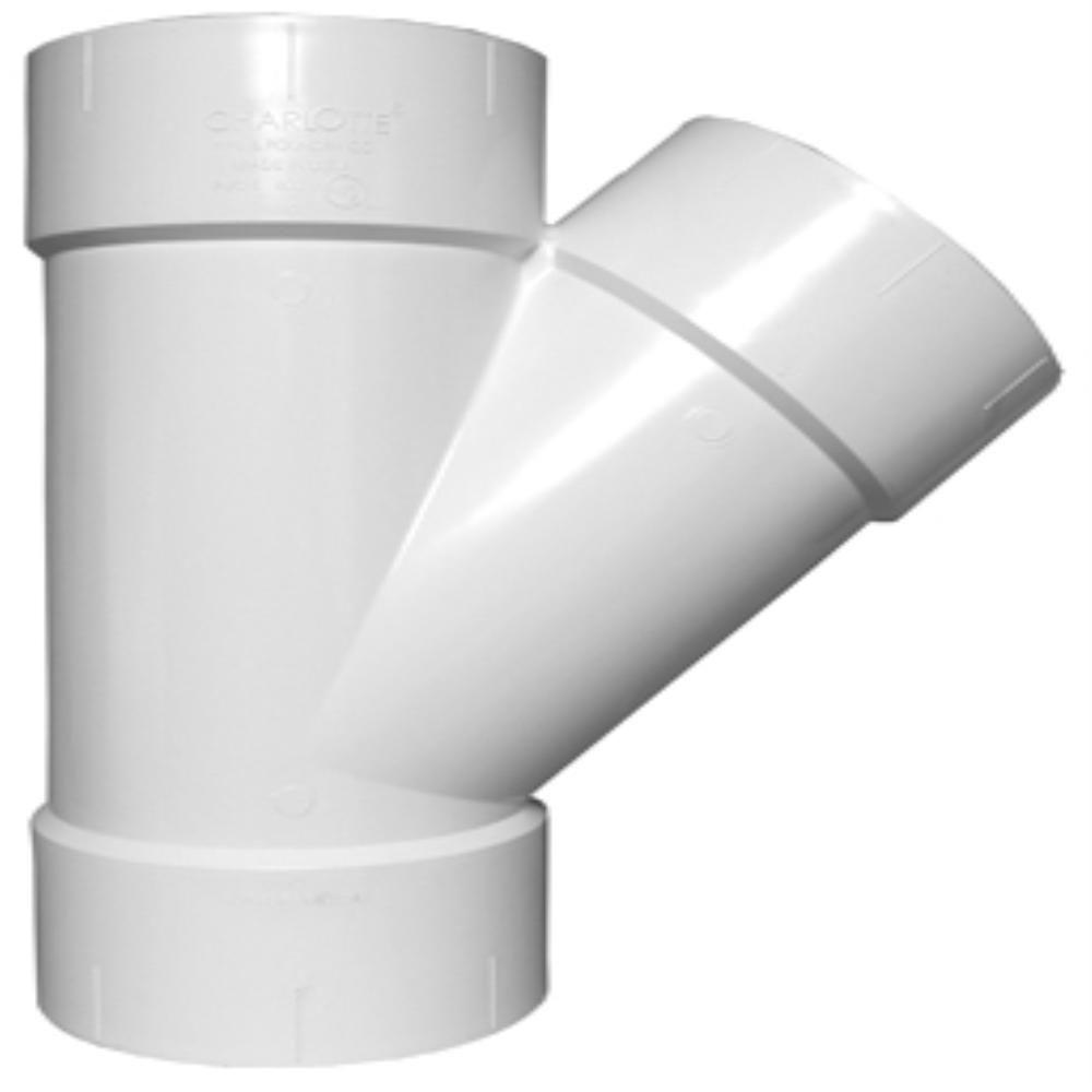 Charlotte Pipe 8 in. PVC DWV Wye  sc 1 st  The Home Depot & Charlotte Pipe 8 in. PVC DWV Wye-PVC 00600 1800 - The Home Depot