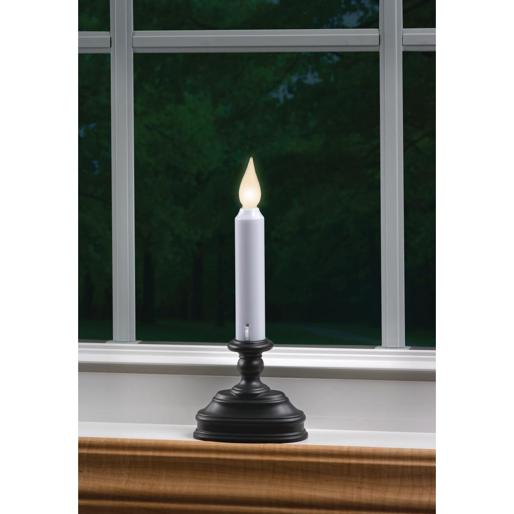 8.5 in. Warm White LED Standard Battery Operated Candle with Aged