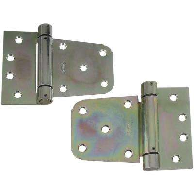 3-1/2 in. Zinc-Plated Heavy Duty Auto-Close Gate Hinge Set