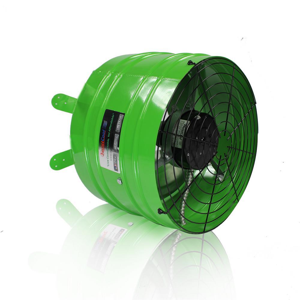 Quietcool Smart 2830 Cfm Power Gable Mount Attic Fan Afg