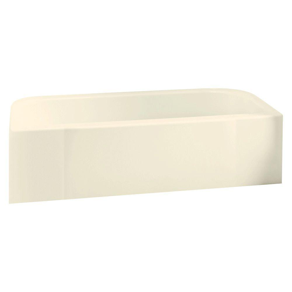 Accord 5 ft. Right Drain Rectangular Alcove Soaking Tub in Biscuit
