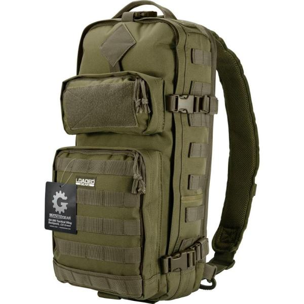 Loaded Gear 13 in. GX-300 Tactical Sling Backpack, Olive Drab Green