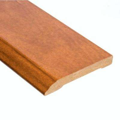 Tigerwood 1/2 in. Thick x 3-1/2 in. Wide x 94 in. Length Hardwood Wall Base Molding