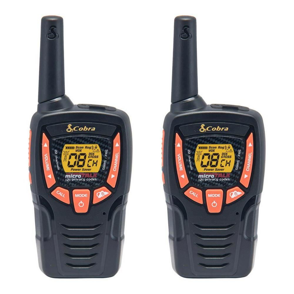 cobra 23 mile range 2 way radio value pack cba acxt345 the home depot. Black Bedroom Furniture Sets. Home Design Ideas