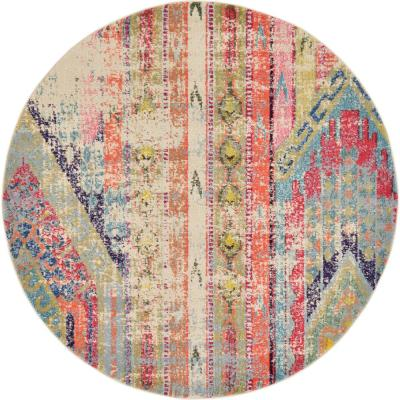 Sedona Yosemite Multi 6 ft. x 6 ft. Round Area Rug