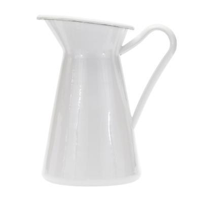 3 qt. White Enamelware Pitcher