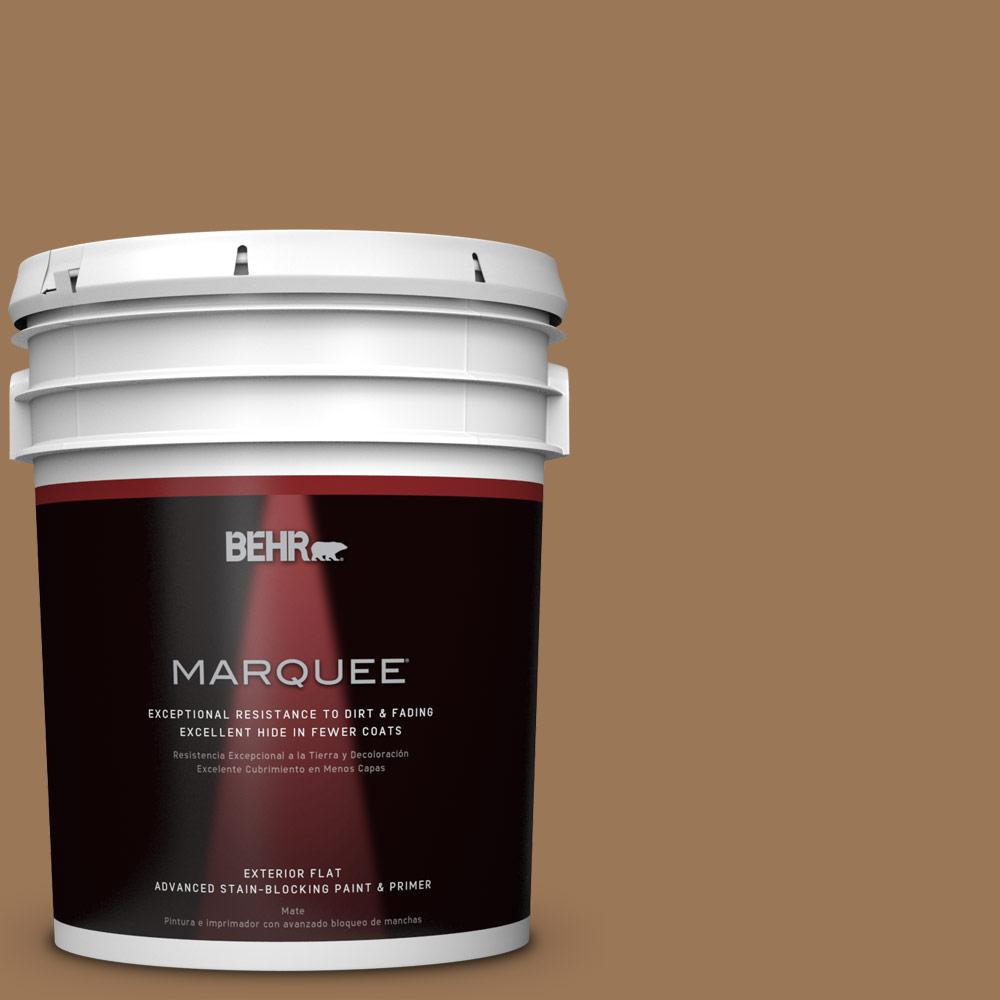 BEHR MARQUEE 5-gal. #PPU4-2 Coco Rum Flat Exterior Paint