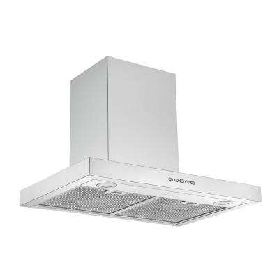 30 in. Convertible Wall-Mounted Rectangular Range Hood in Stainless Steel with LED Lights