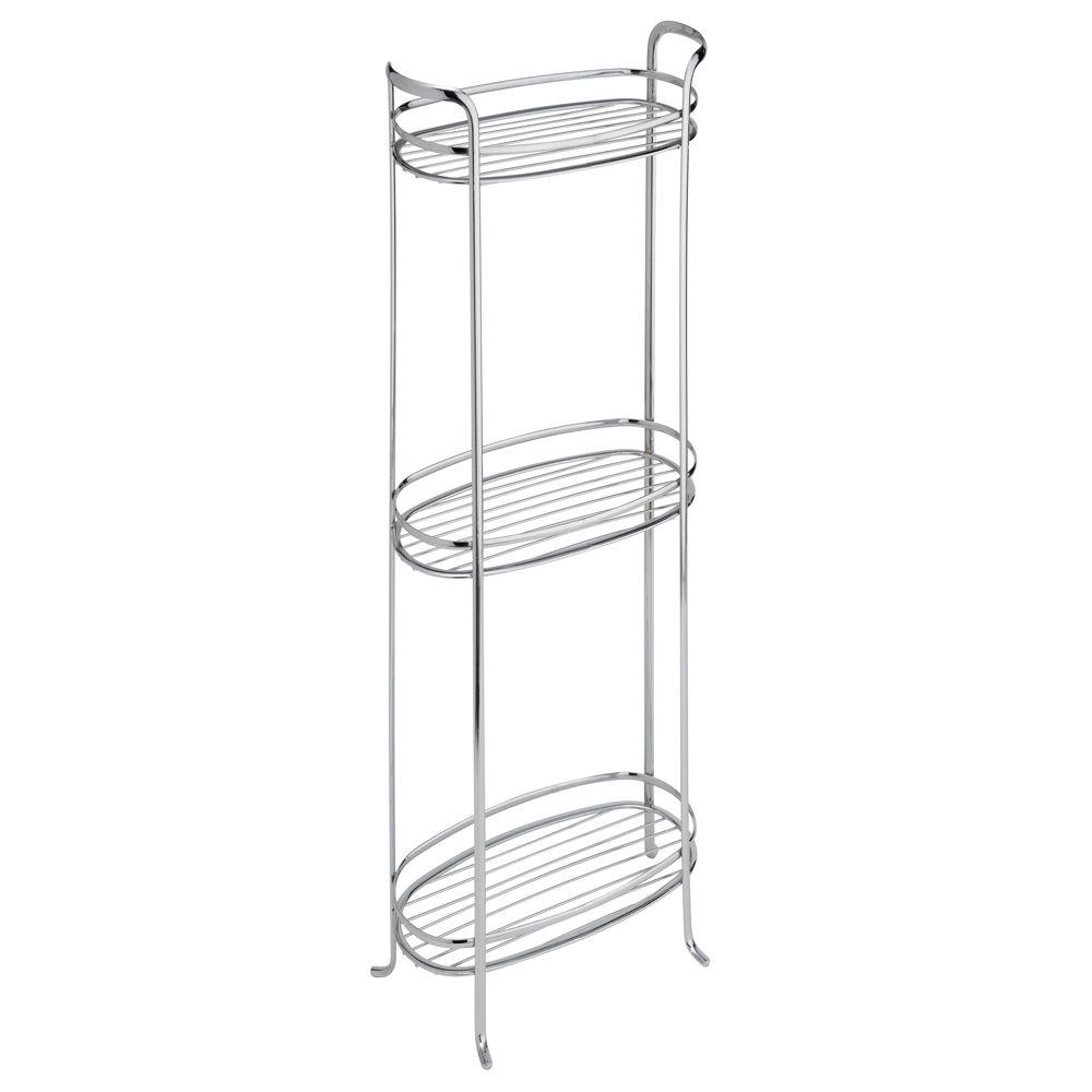 null Axis Tower 3-Shelf in Chrome