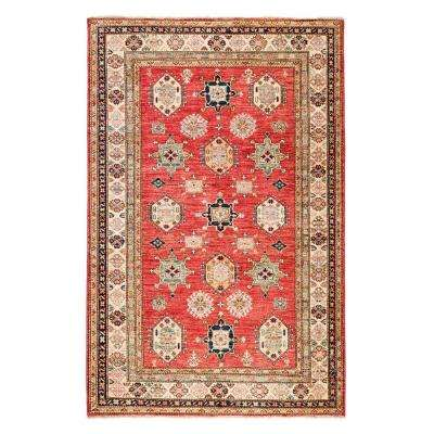 Kazak Rust 6 ft. x 9 ft. Indoor Area Rug
