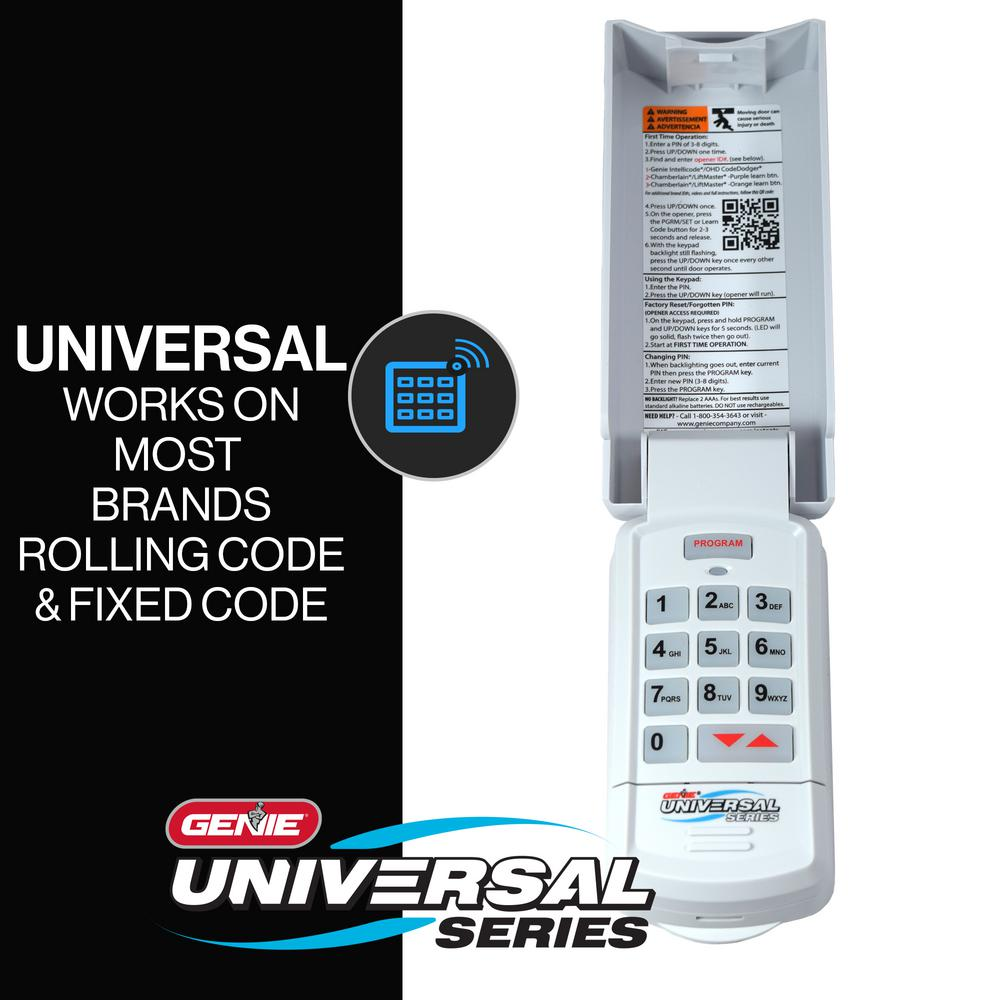 Genie Universal Wireless Keypad Guk R The Home Depot