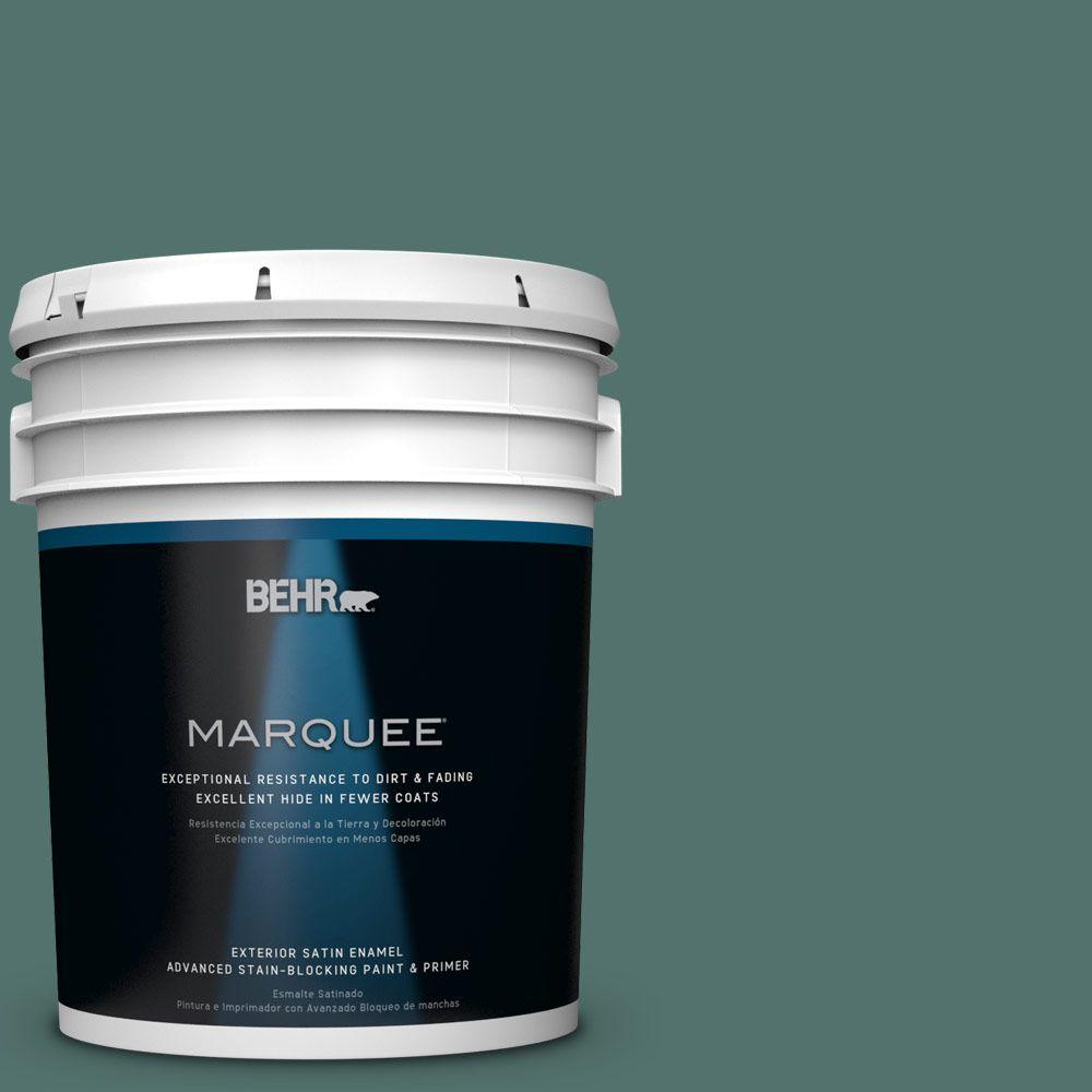 5 gal. #HDC-WR16-04 Noble Fir Satin Enamel Exterior Paint
