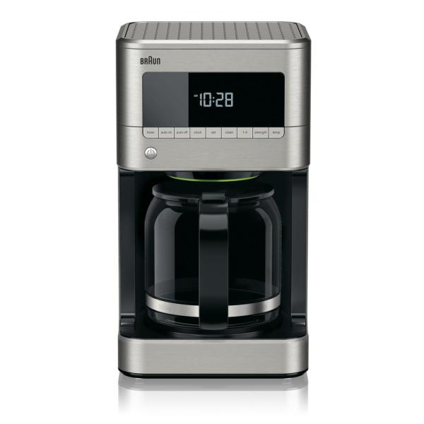 BrewSense 12-Cup Stainless Steel Drip Coffee Maker with Temperature Control