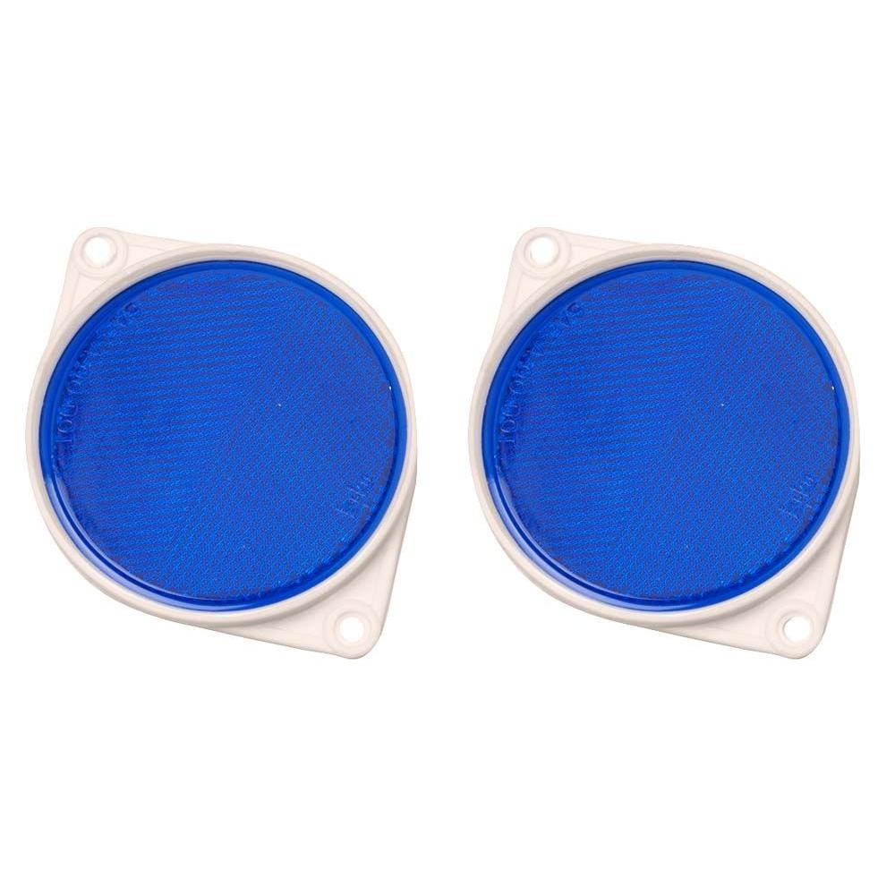HY-KO 3-1/4 in. Round Blue Acrylic Reflectors (2-Pack)