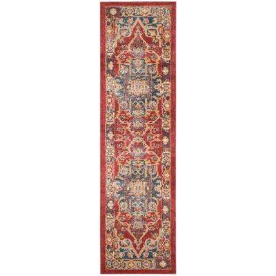 Bijar Red/Royal 2 ft. x 6 ft. Runner