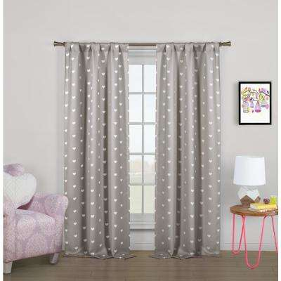 """Print Cotton Candy Polyester Blackout Pole Top Window Curtain 37 in. W x"""" 84 in. L 2-Pack"""