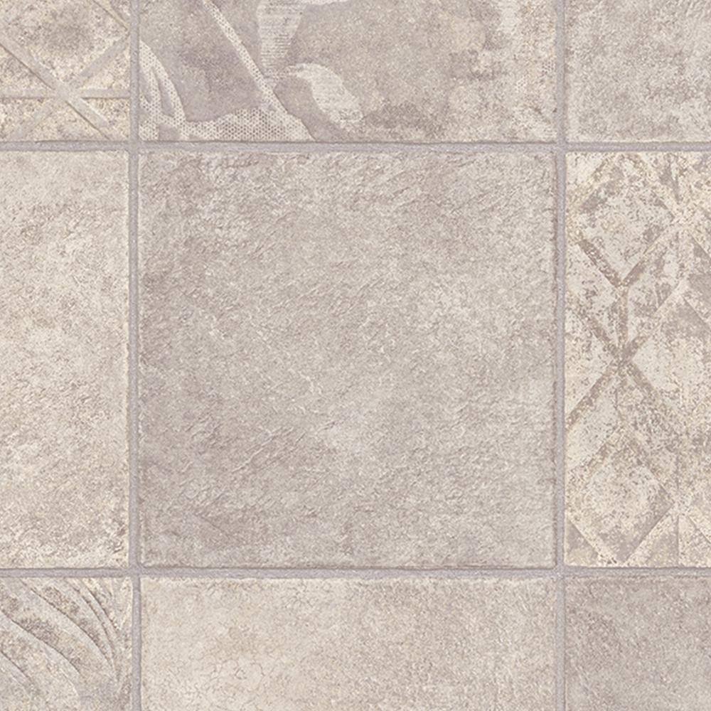 TrafficMASTER Marbella Tile Neutral Ft Wide X Your Choice - 6 foot wide vinyl sheet flooring