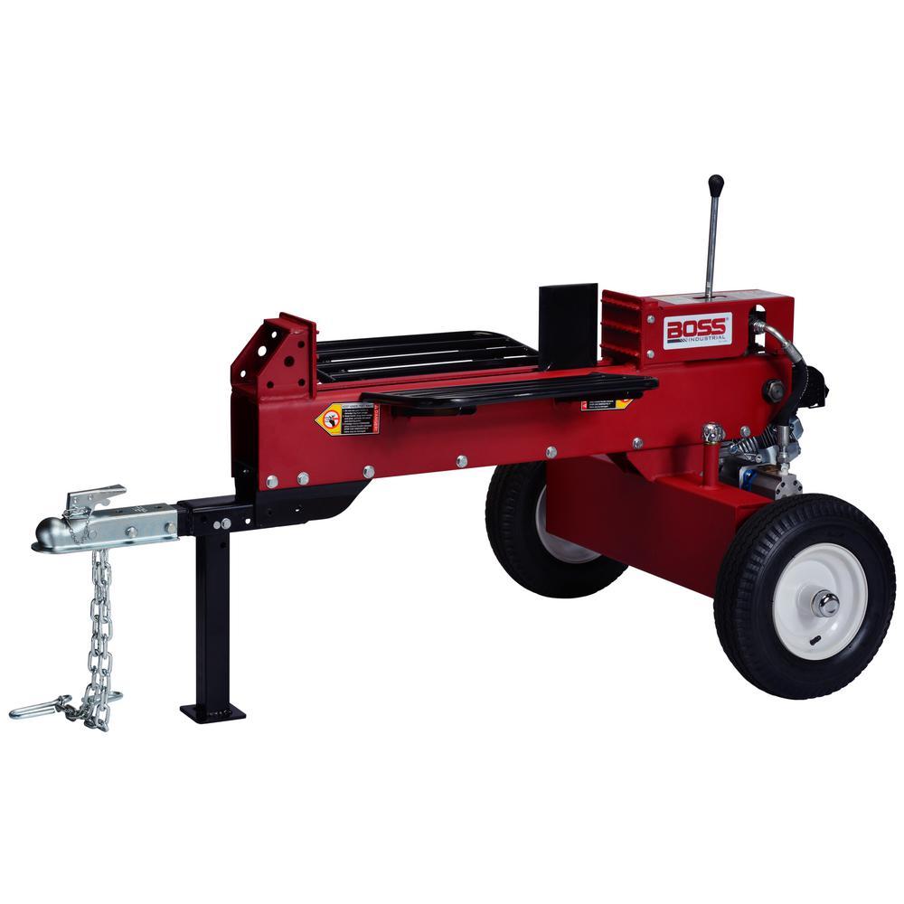 Boss Industrial 16 Ton 196cc Gas Log Splitter Gd16t21 The Home Depot