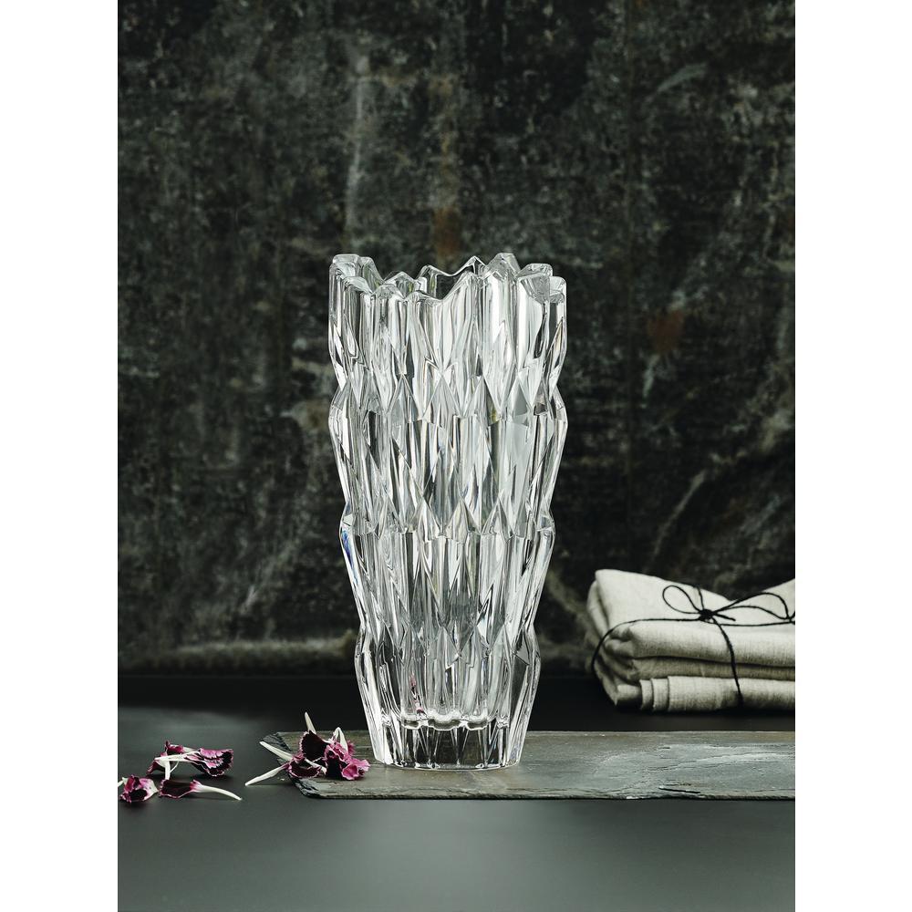 Quartz 11 in. Crystal Vase in Clear