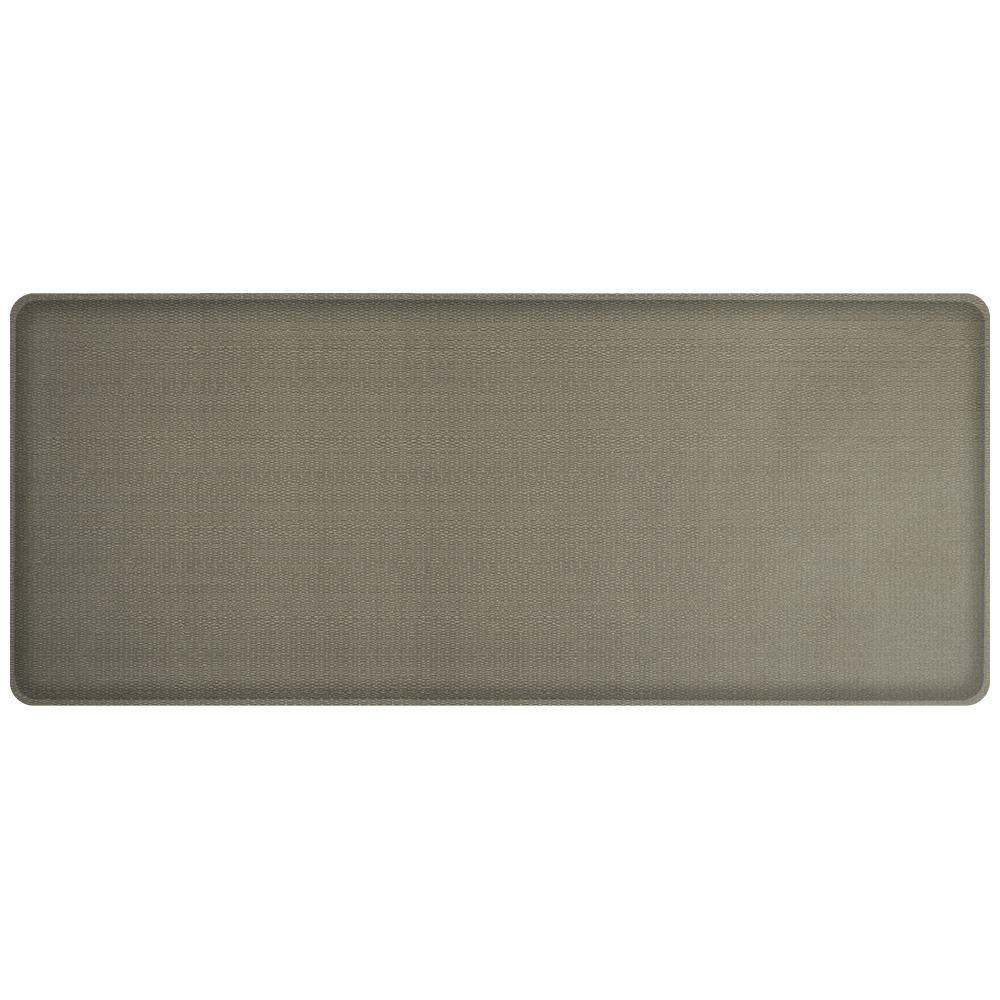 Classic Rattan Galveston Grey 20 in. x 48 in. Comfort Kitchen Mat