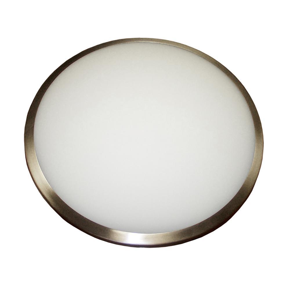 3-Light Chrome Flushmount