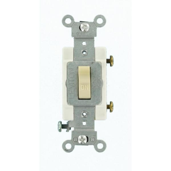 3 Amp Industrial Grade Heavy Duty Single-Pole Toggle Switch, Ivory
