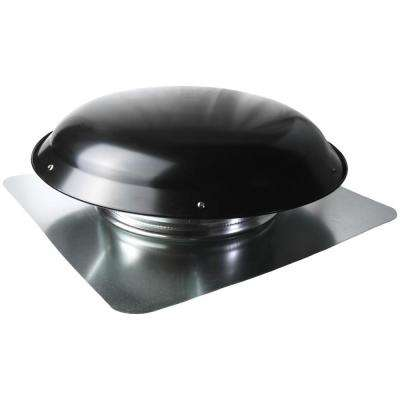 25 in. x 10 in. Galvanized Steel Static Roof Vent in Black
