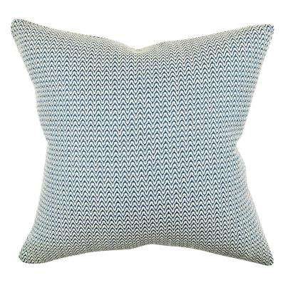 Modern Blue Chevron Throw Pillow