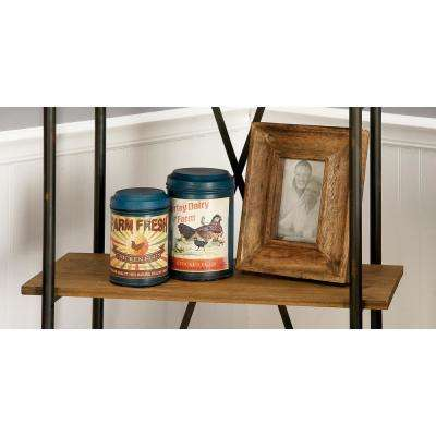 Oak Brown and Whitewash Sunken Thick Beveled Picture Frame (Set of 2)