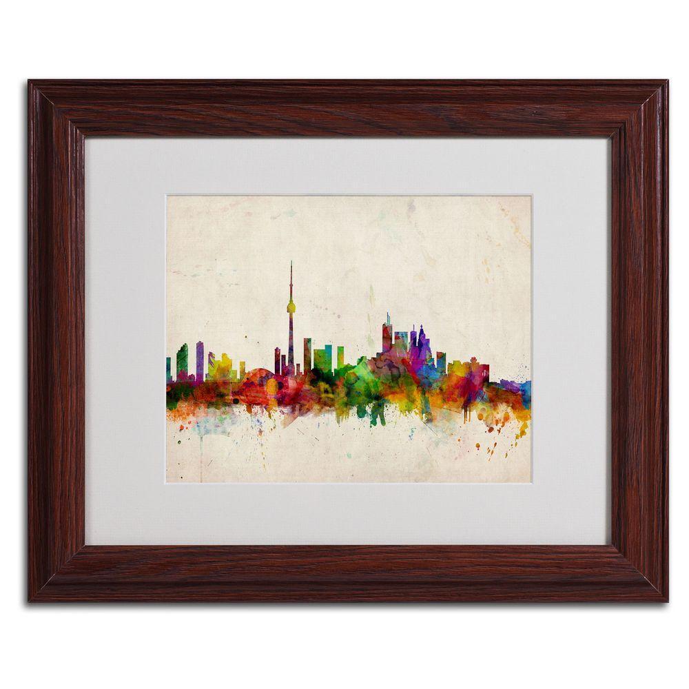Trademark Fine Art 11 In X 14 In Toronto Skyline Matted