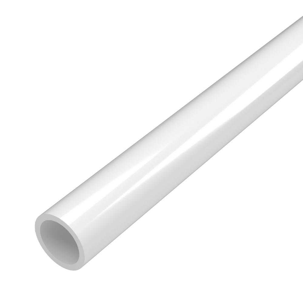 Formufit 3/4 in. x 5 ft. Furniture Grade Sch. 40 PVC Pipe in White