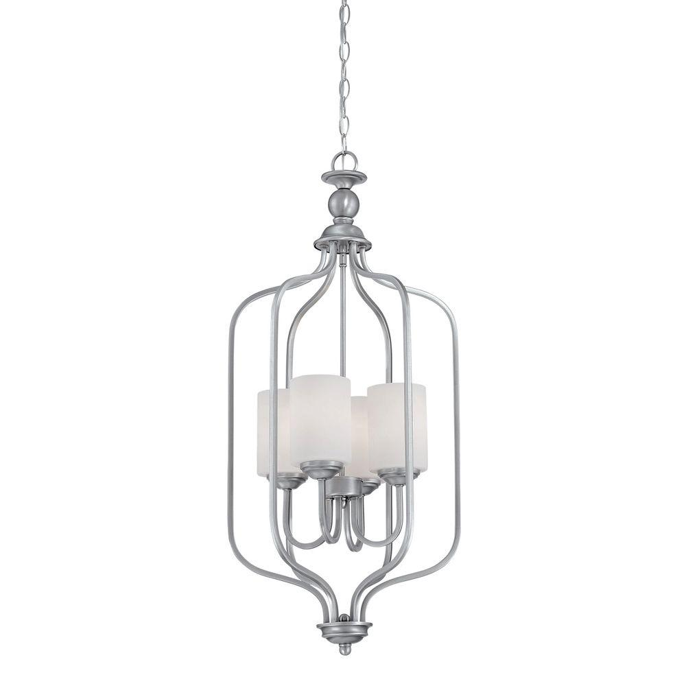 Millennium Lighting 4-Light Brushed Pewter Pendant With