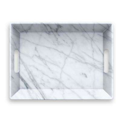 Carrara Handle Melamine Serve Tray
