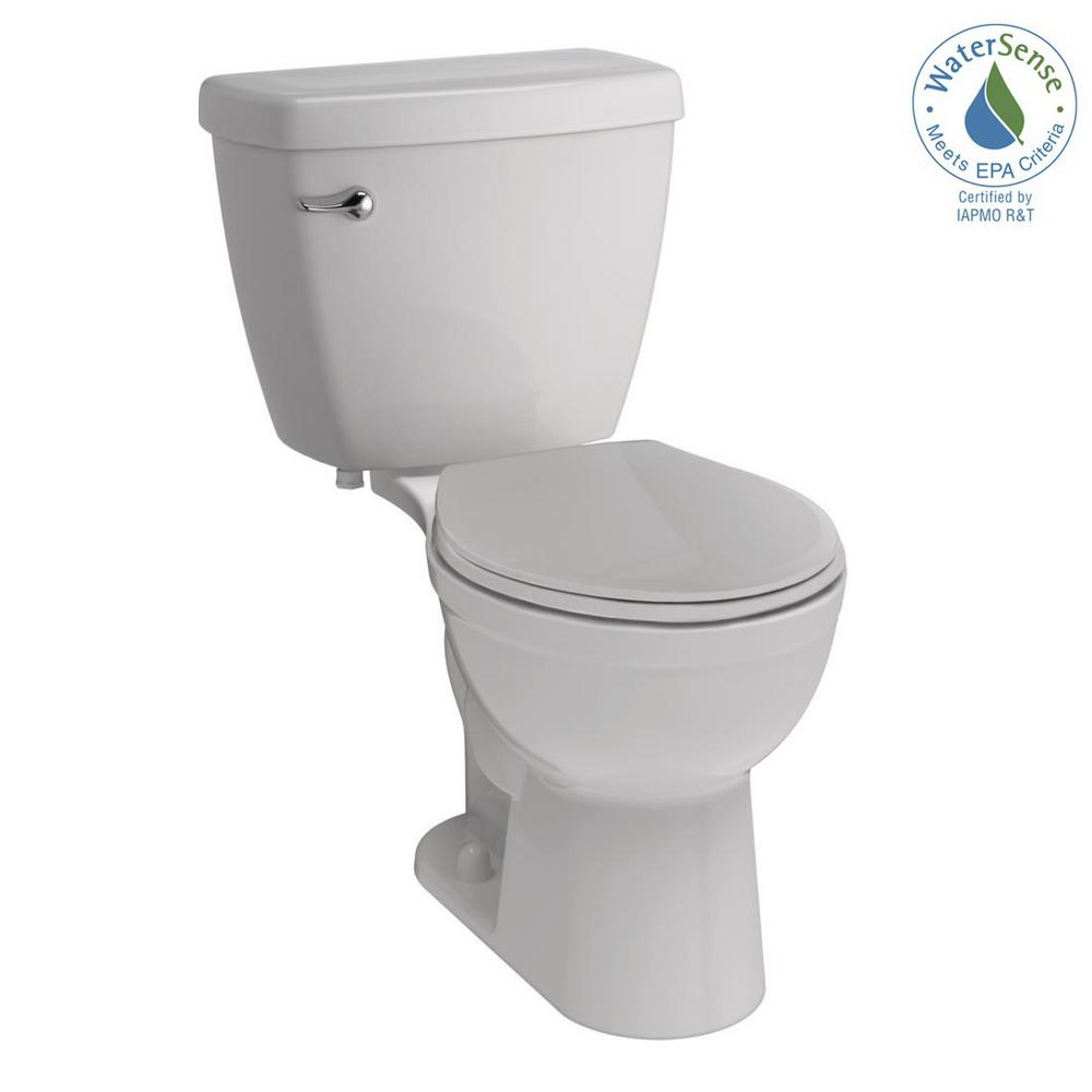 Delta Foundations 2-piece 1.28 GPF Single Flush Round Front Toilet in White