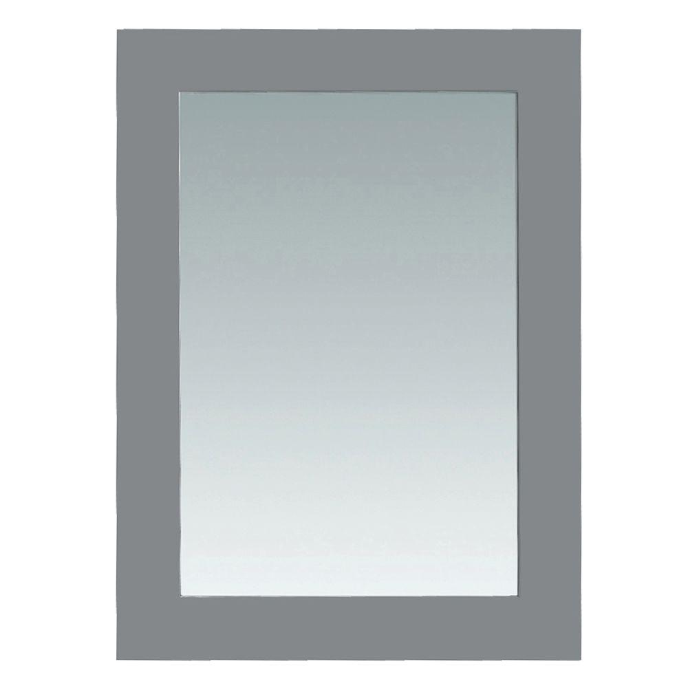 Madison 30 in. x 22 in. Wall Mounted Mirror in Gray