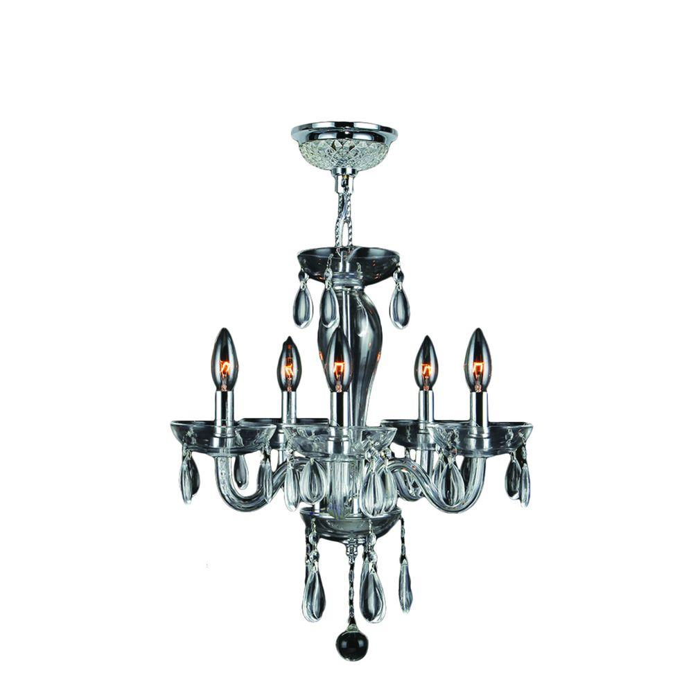 Crystal Chandeliers: Home Decorators Collection 6-Light Chrome Crystal