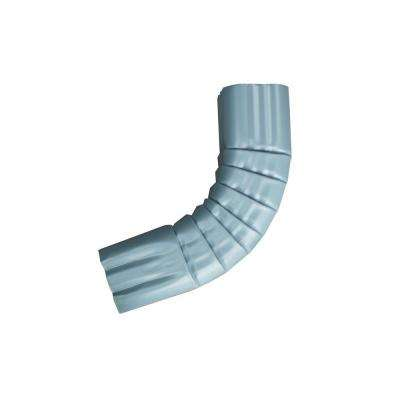 3 in. x 4 in. Traditional Blue Aluminum Downpipe - A Elbow