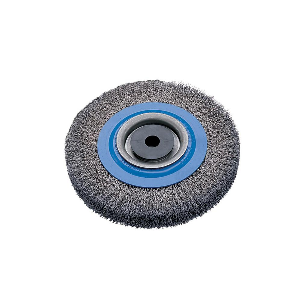 WALTER SURFACE TECHNOLOGIES 8 in. Bench Wheel Brush with ...