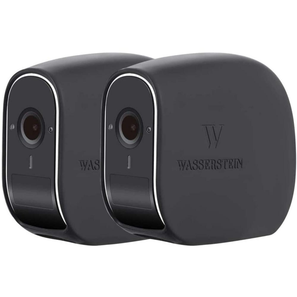 Wasserstein Silicone Skins for eufyCam E Wireless Security Camera - Camouflage and Accessorize Your Home Camera (2-Pack, Black)