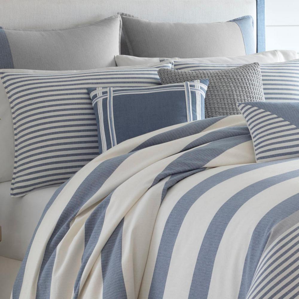 Fairwater Blue Striped Cotton Comforter Set
