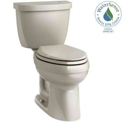 Cimarron Touchless Comfort Height 2-Piece 1.28 GPF Single Flush Elongated Toilet in Sandbar