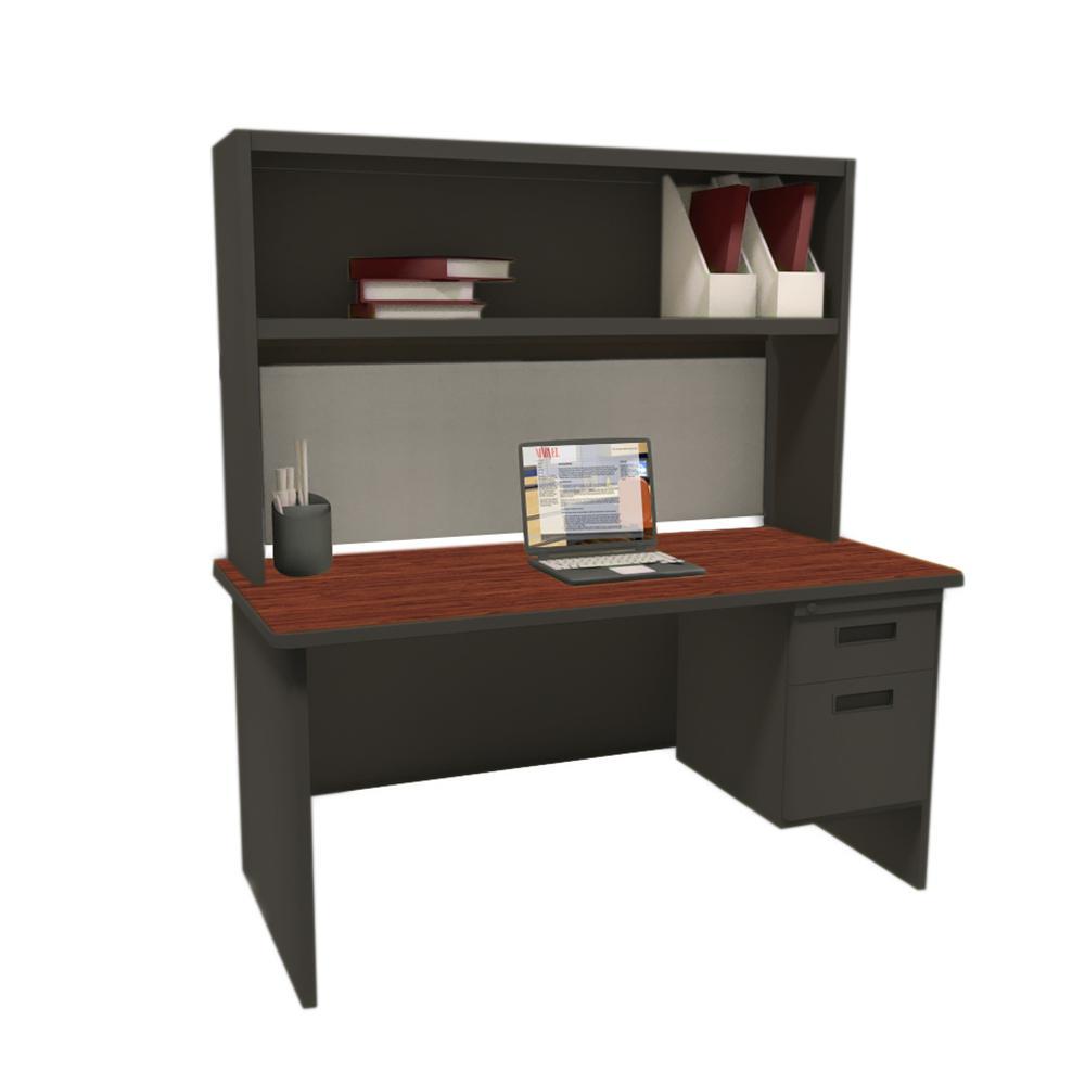 Black Desk Black Base Tabletop Picture 17