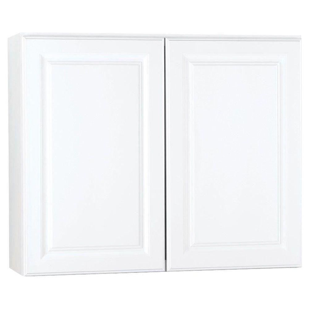 Hampton Bay Hampton Assembled 36x30x12 In. Wall Kitchen Cabinet In Satin  White